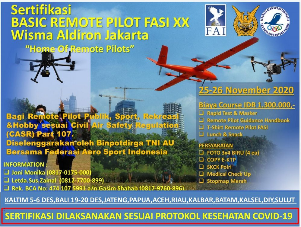 Sertifikasi Basic Remote Pilot License FASI batch XX